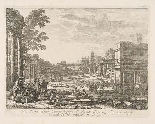 2084017: CLAUDE GELLÉE, LE LORRAIN Two etchings
