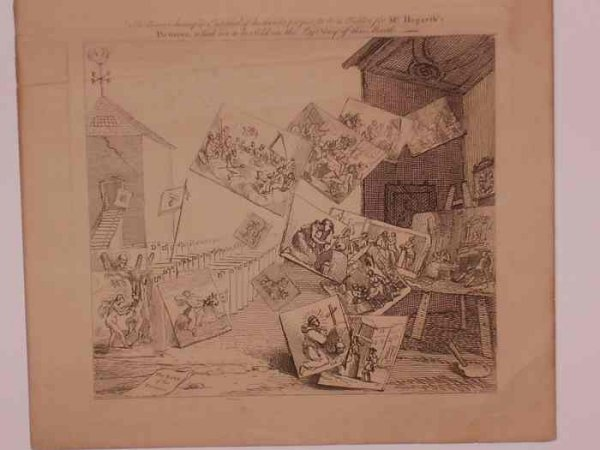 2084021: WILLIAM HOGARTH The Battle of the Pictures