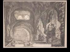 2084029: GIOVANNI B. PIRANESI Veduta interna della Vill