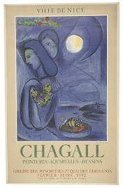 2084305: MARC CHAGALL Three color lithograph posters