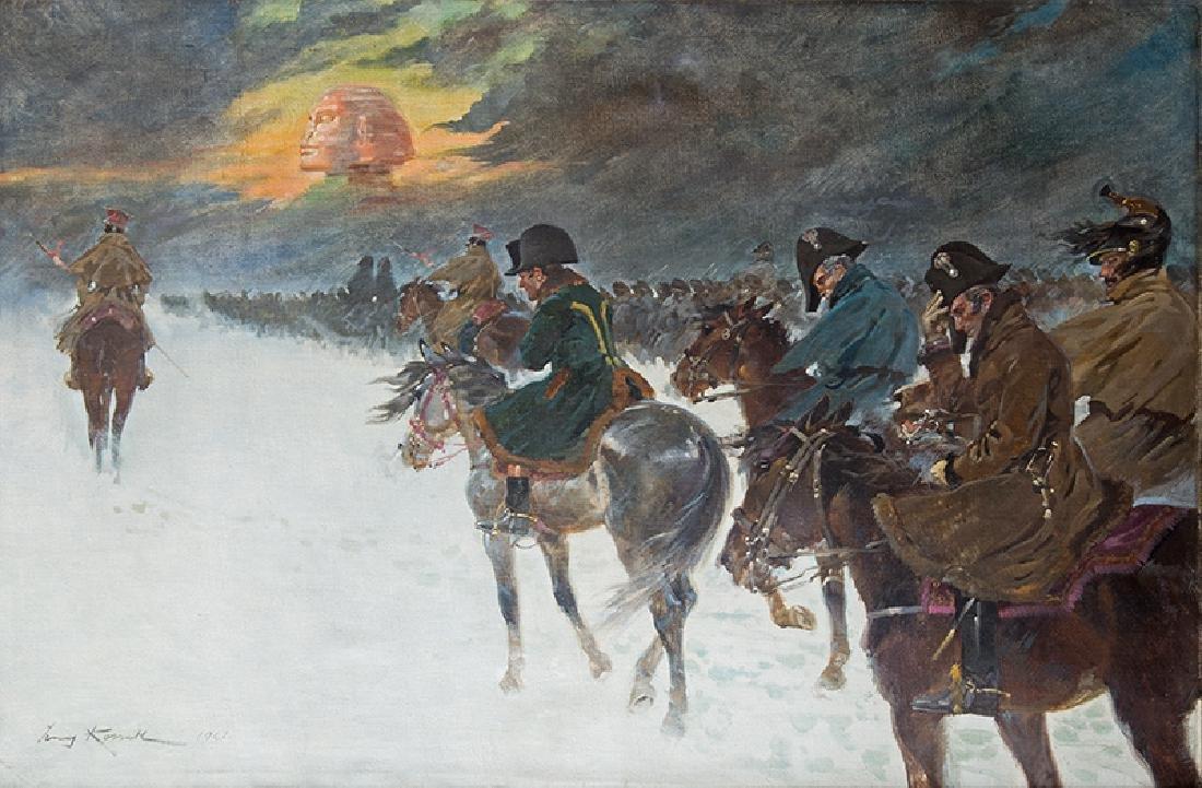Jerzy Kossak (1886-1955), Napoleon's vision, 1921