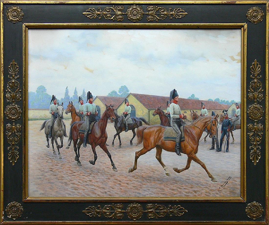 Jan Rosen (1854-1936), Cavalry School, 1926