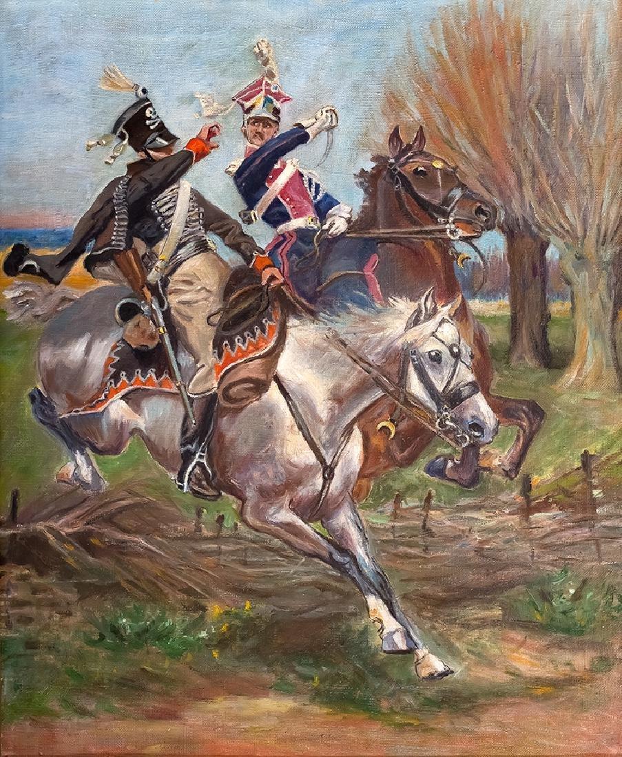 Unknown Artist (20th c.), Polish Chevau-leger Fighting