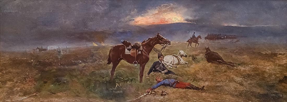 Tadeusz Ajdukiewicz (1852-1916), After the Battle, 1914