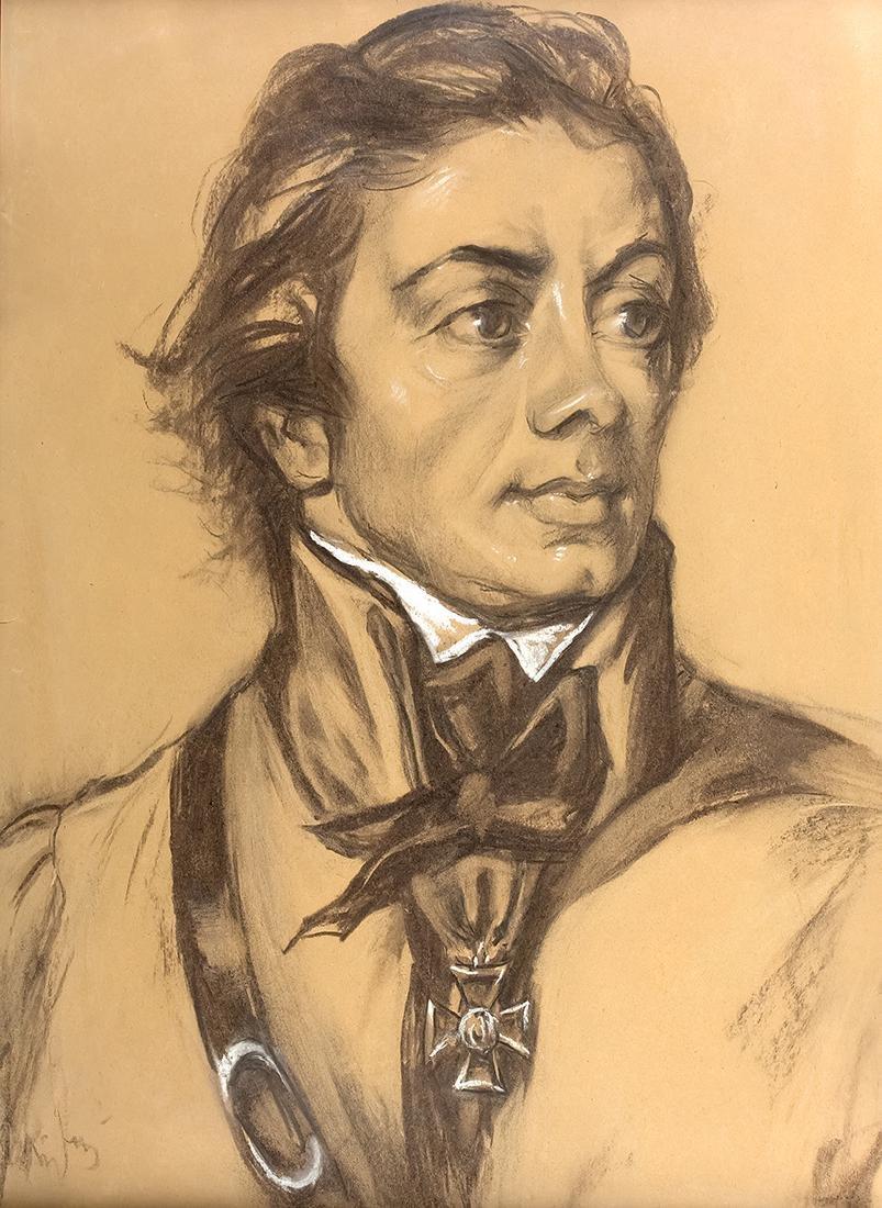 Jozef Kidon (1890-1968), Portrait of Tadeusz Kosciuszko
