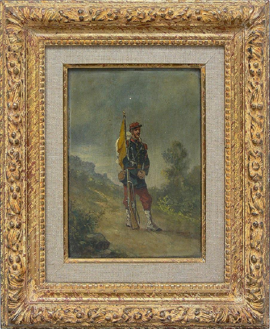 Petit (19th/20th c.), French soldier with a rifle