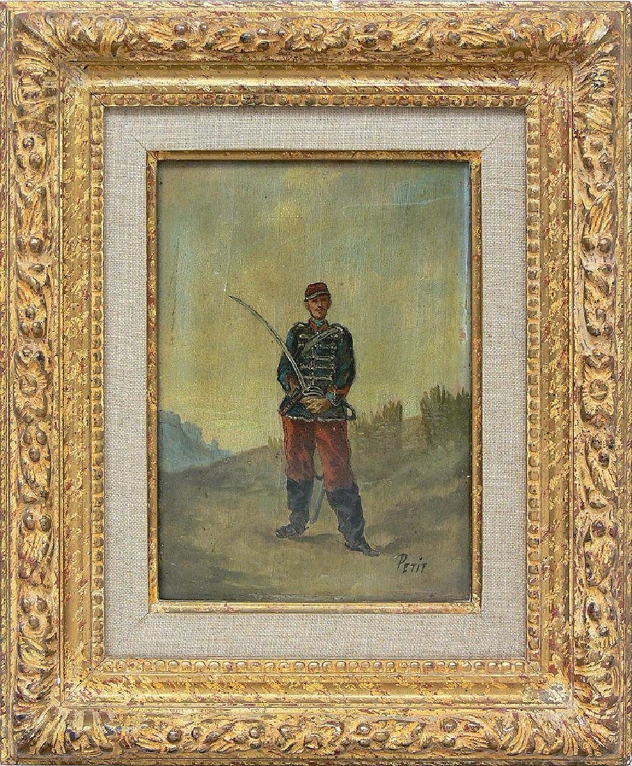 Petit (19th/20th c.), French soldier with a sabre