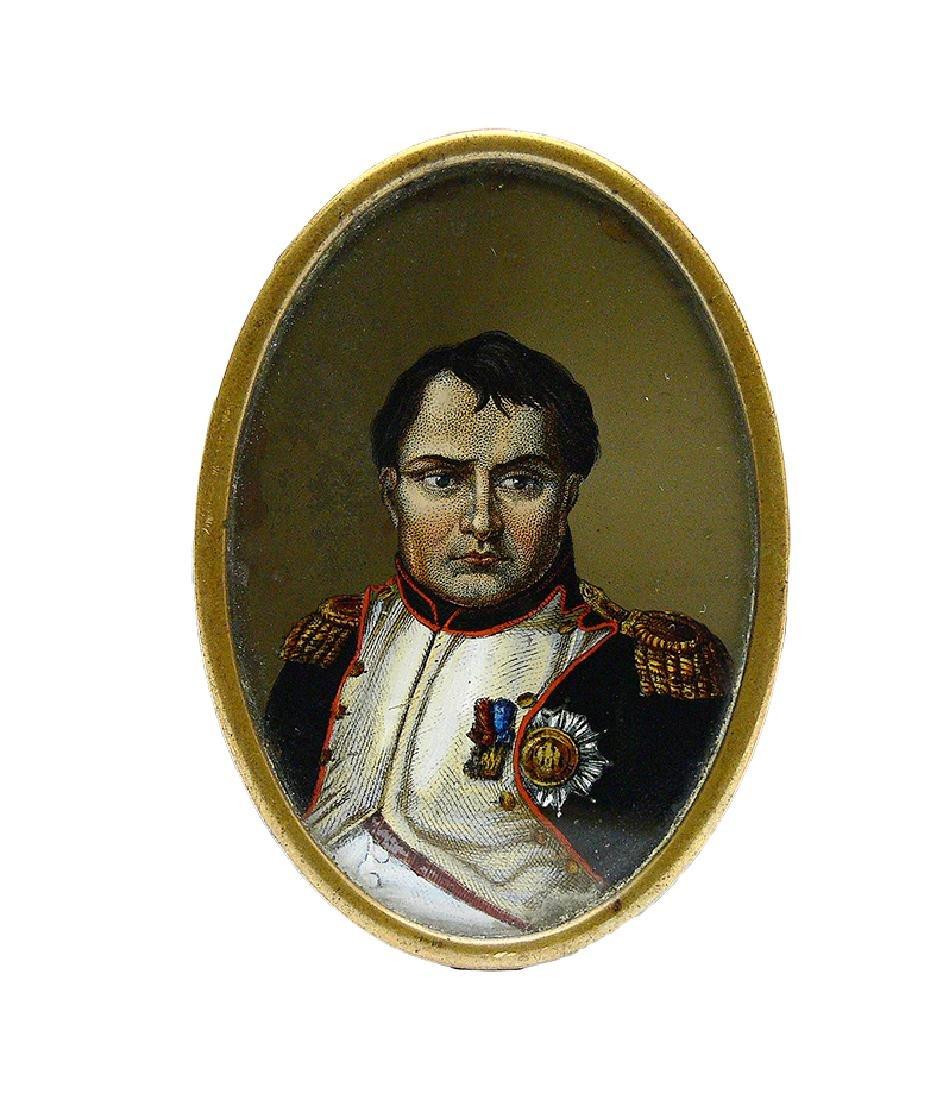 Miniature with Napoleon's portrait