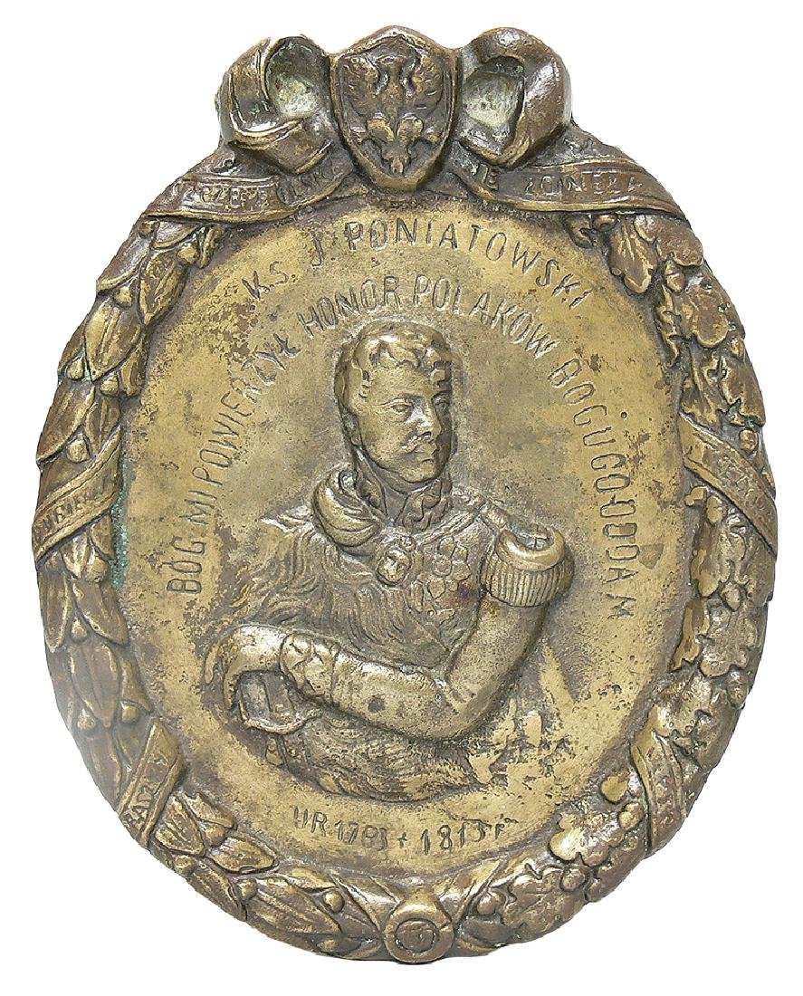 Plaque with Prince Jozef Poniatowski