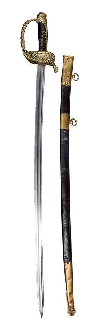 French Naval Officer's Sabre, 1837 Pattern