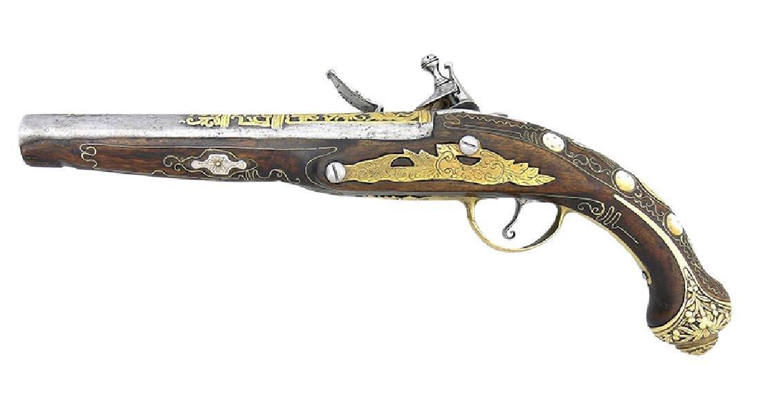 Oriental Flintlock Pistol, ca. 1800