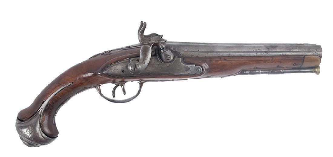 Double Barrell Caplock Pistol, Belgium, 18th/19th c.