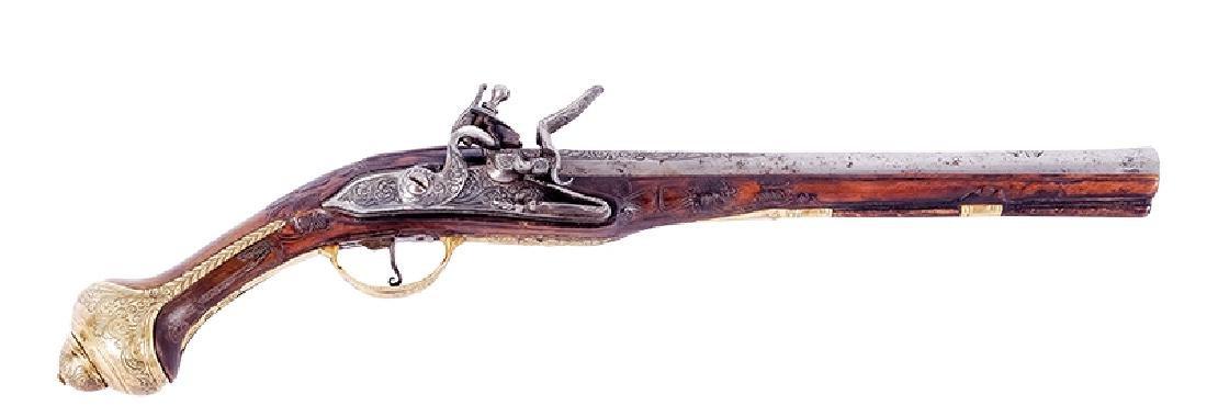 Flintlock Pistol, Turkey, ca. 1800