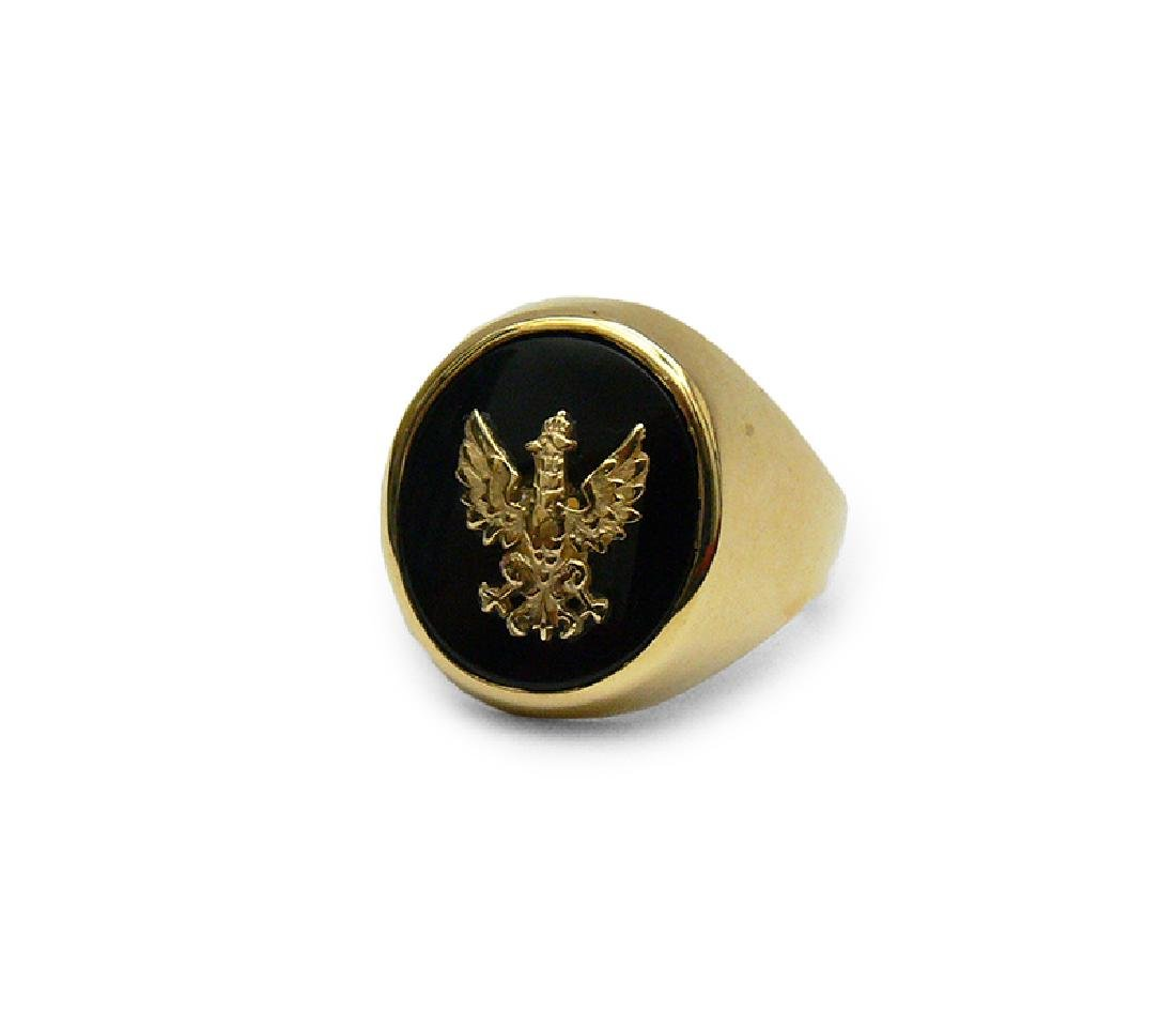 Signet ring with an Eagle, half of 20th c.