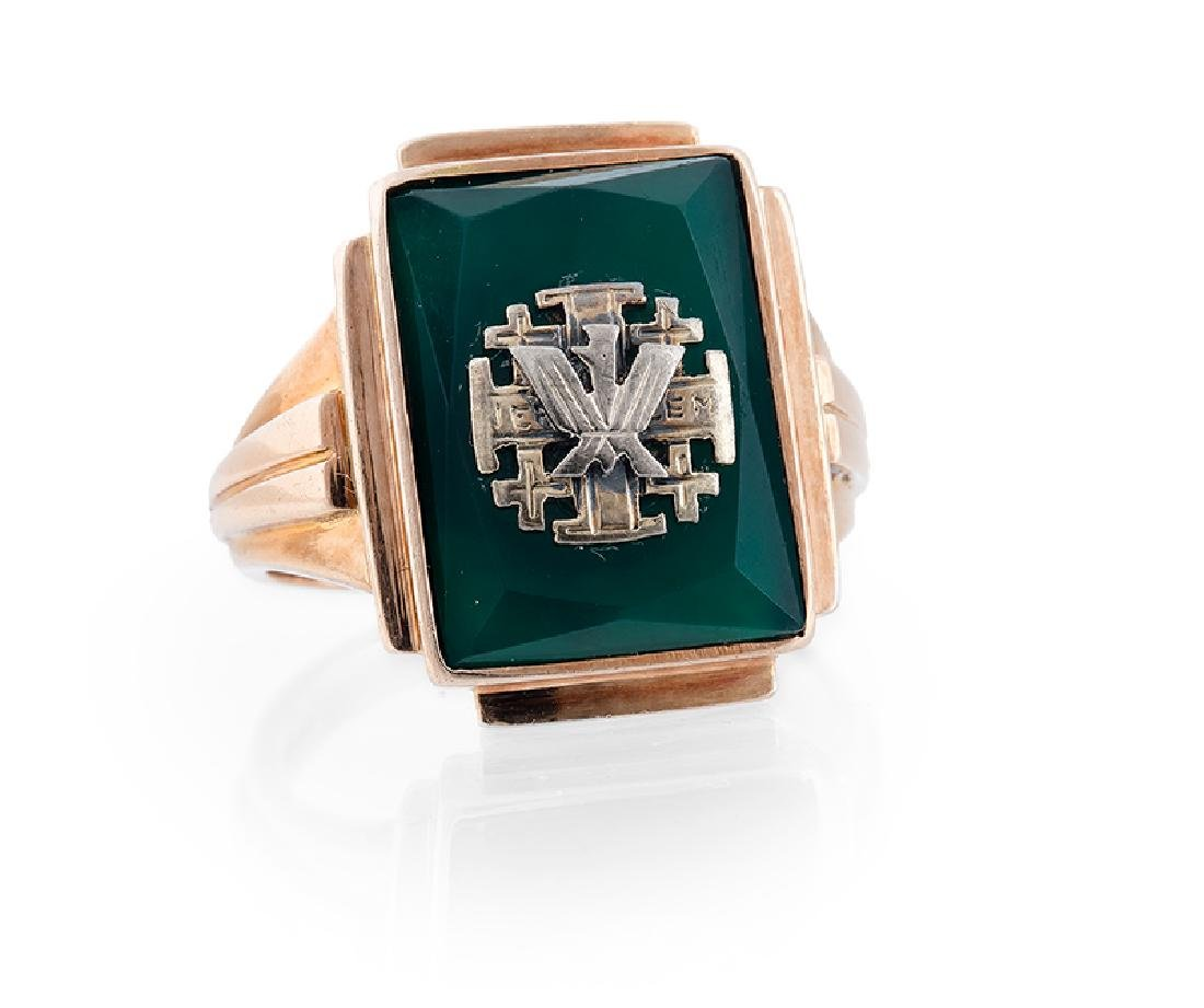 Signet ring with Jerusalem cross