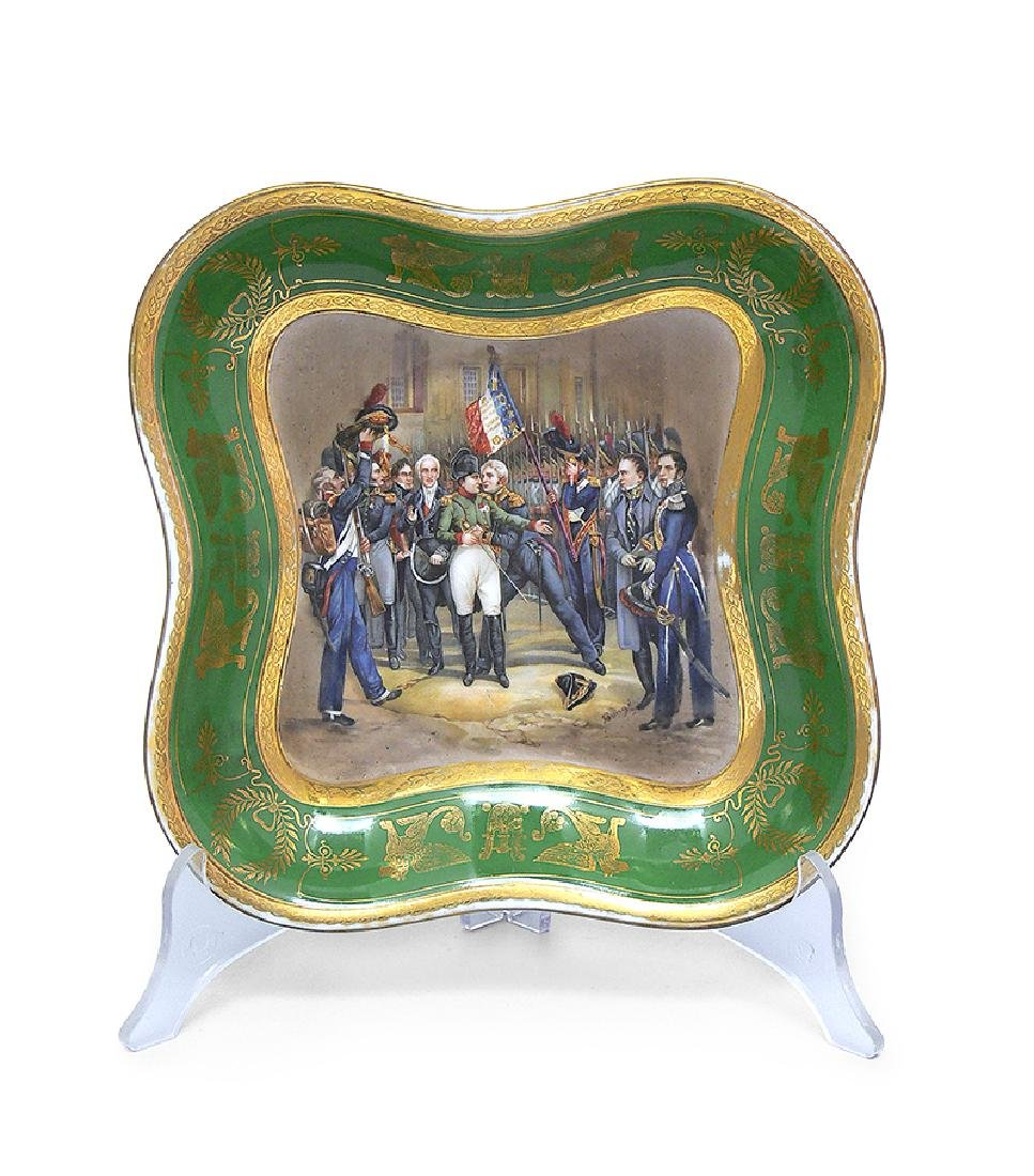 Platter with Farewell of Napoleon with Imperial Guard