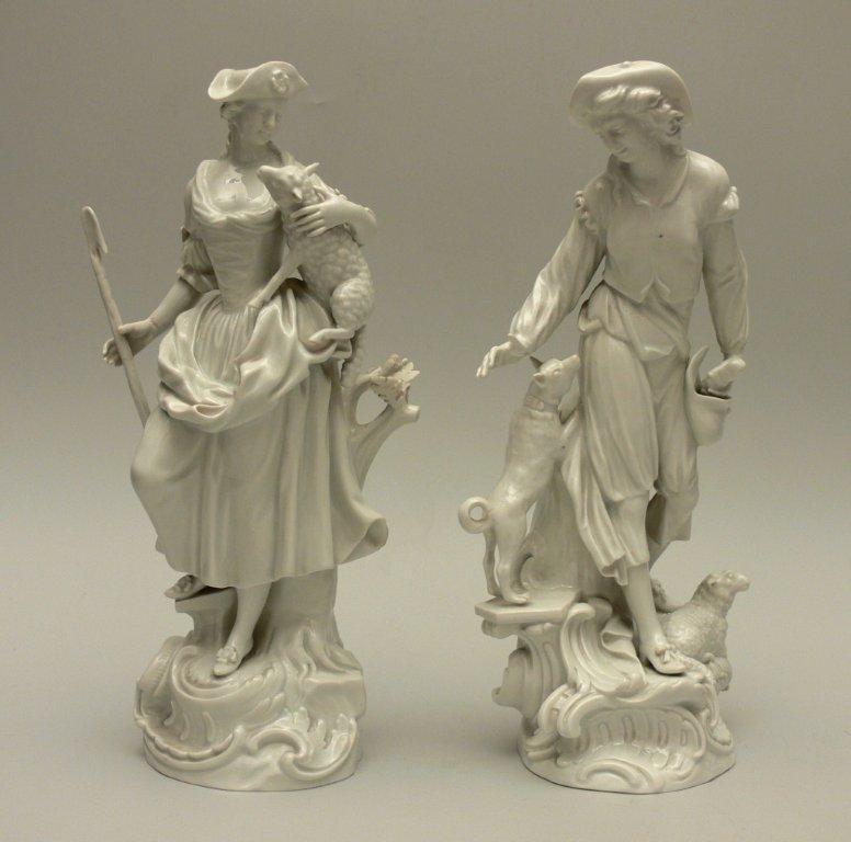 """Pair of Porcelain figurines """"Shepherd and shepherdess"""""""