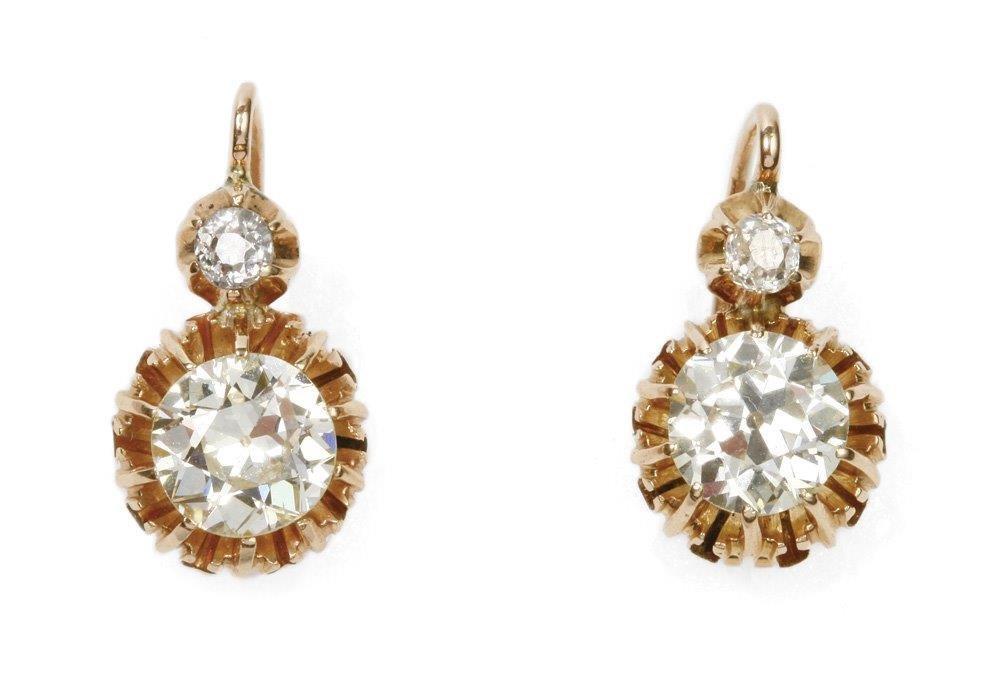 Diamond Earings 14-karat gold (0.580)