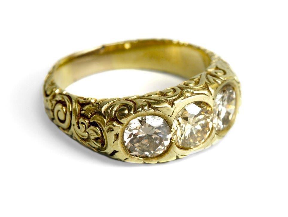 Diamond Ring 12-karat gold (0.500)