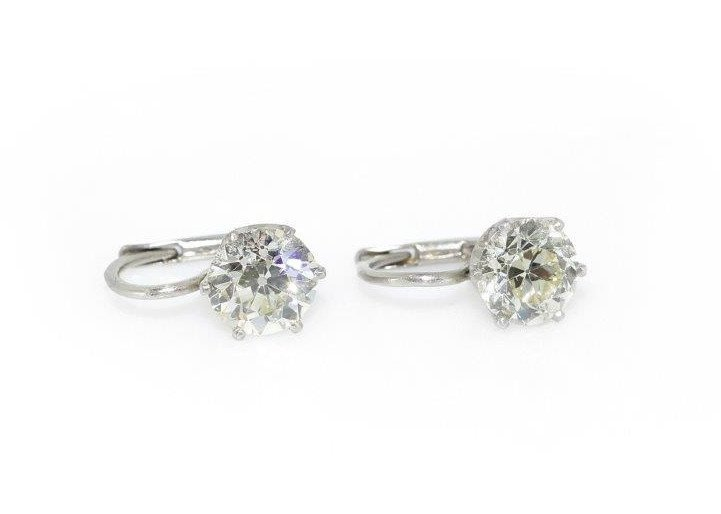 Diamond Earings platinumca. 0.950, weight 3.54 gram 2 b