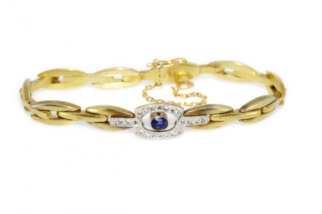 Bracelet 14-karat gold (0.580), platinum