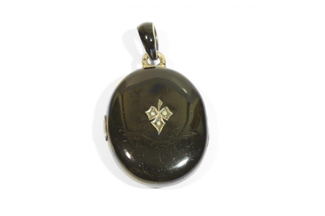 Medallion with Black Enamel, 19th century