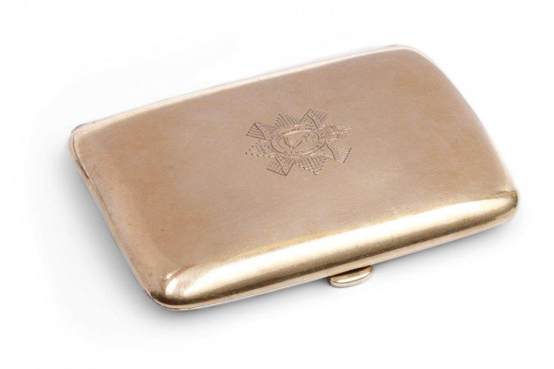 Cigarette-case 9-karat gold (0.375) weight 57.05 gram