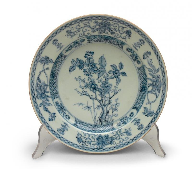 Chinese Plate, 18th/19th c. porcelain, underglaze blue