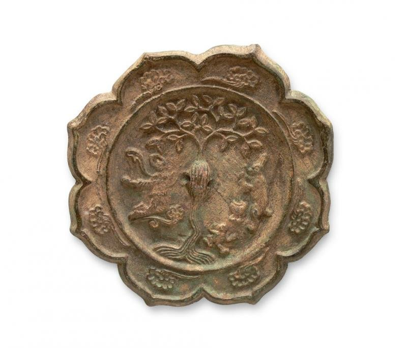 Chinese Mirror in Tang Dynasty style, 19th c. bronze;