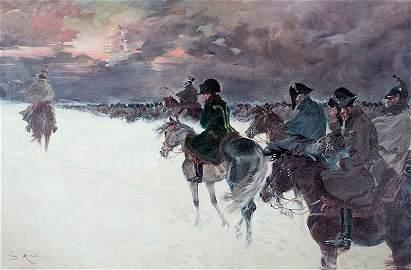 Jerzy Kossak (1889 -1955), Napoleon's withdrawal from