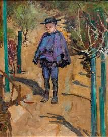 Jacek Malczewski, Portrait of Rafalek, about 1900