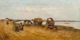 Franciszek Streitt, Gypsies Waiting For Crossing The