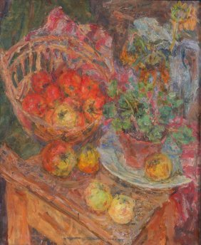 Eugeniusz Eibisch, Still Life Is A Flower In A Pot And