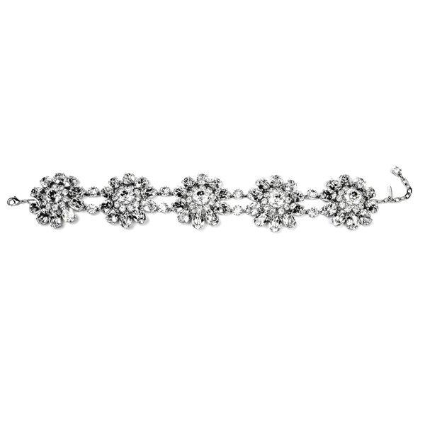 The Marylin Crystal  Flower Chocker