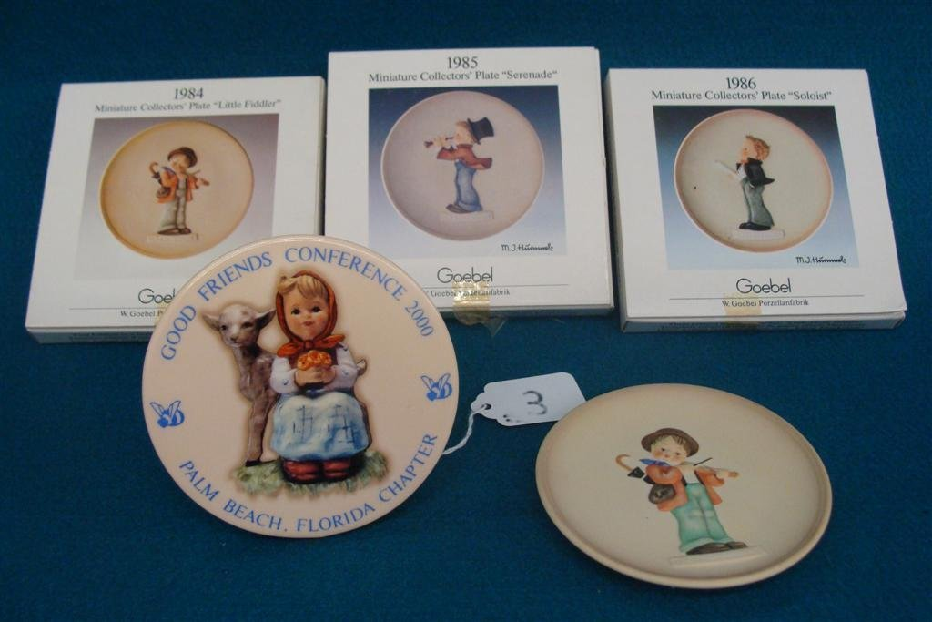 5 Hummel Items: Includes 4 Miniature Collector Plates &