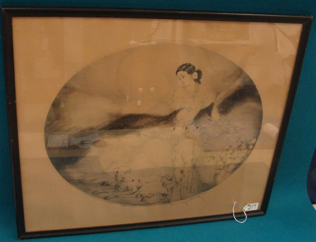 """Genuine Louis Icart Etching Entitled """"Lady of"""