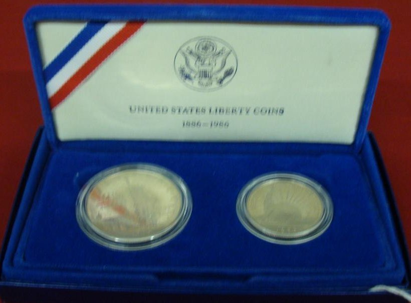 .900 Fine Silver Coin Proof Set; 1986. One is a Silver