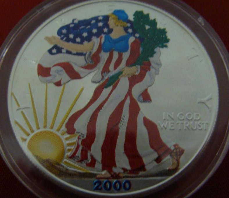 1 Ounce Liberty .999 Fine Silver Uncirculated American - 9