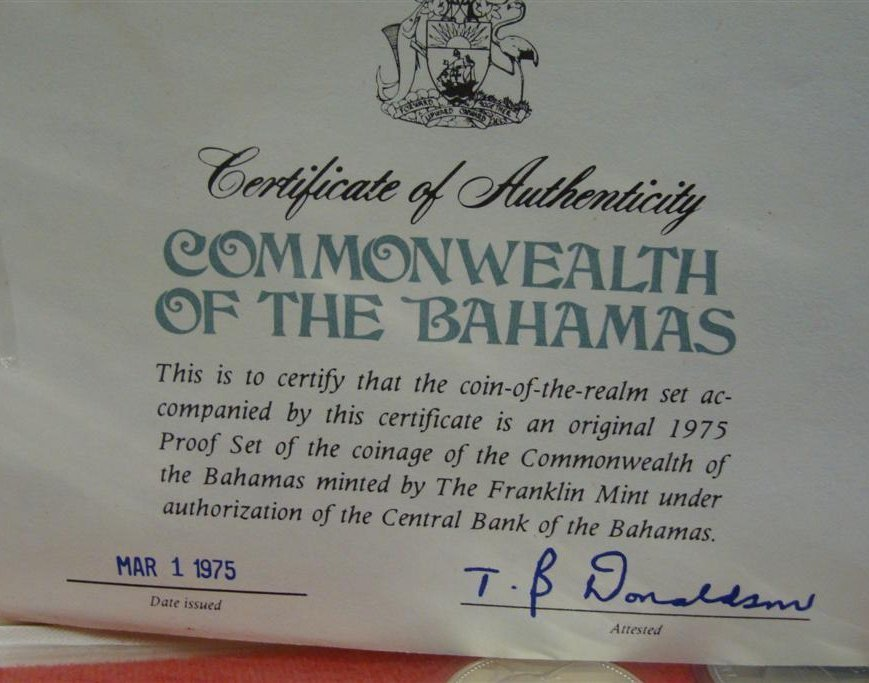 Commonwealth of the Bahamas Sterling Silver Proof Set;