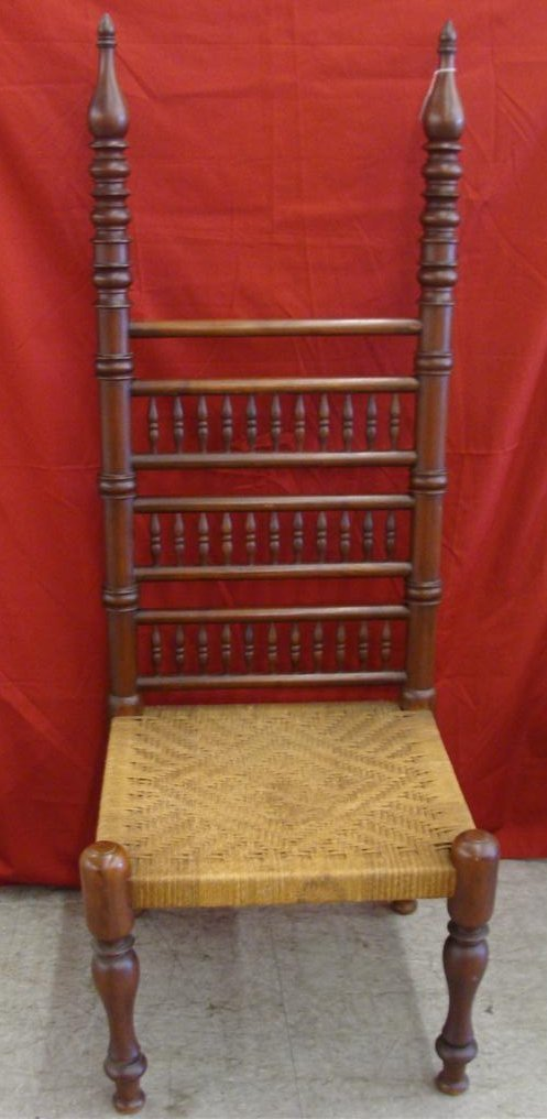 Turkish Revival Rope Seat Chair Circa 1880-1900 with