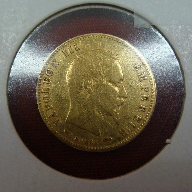 5 Francs Gold Coin; 1856 in Good Condition. 1.6 Grams.