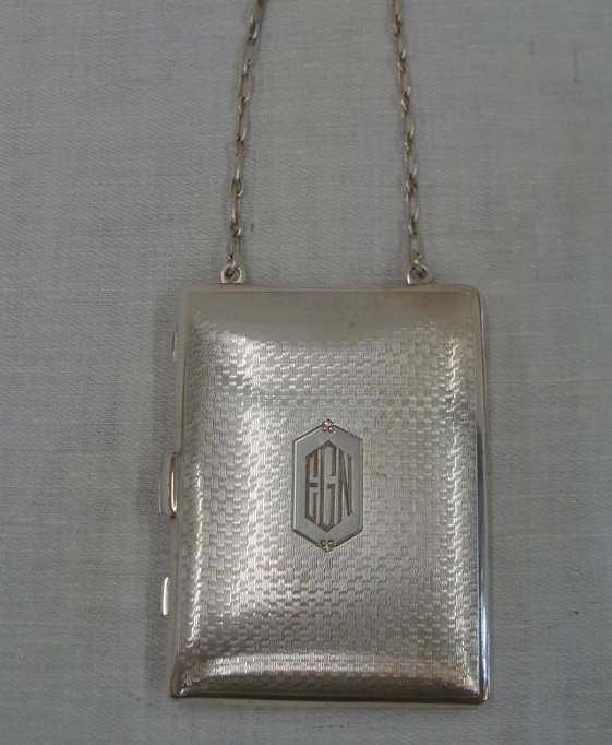 Sterling Silver Compact Purse with a Section For Coins,