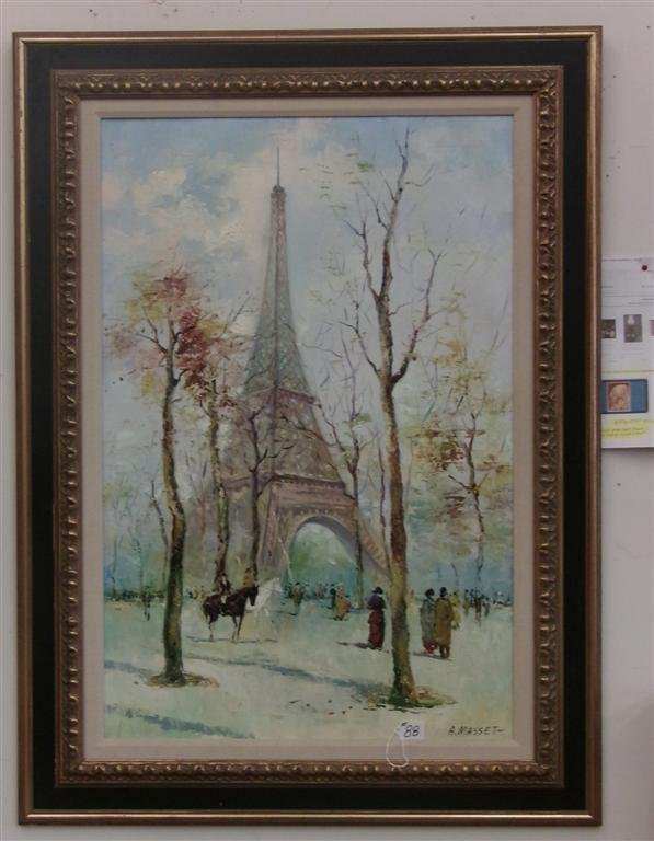 Oil on Canvas Painting by Listed Artist A. Masset. - 3