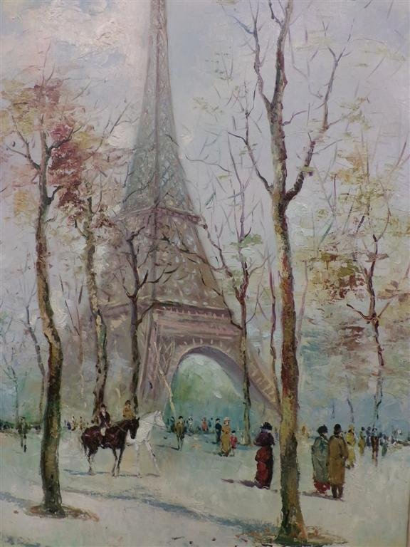 Oil on Canvas Painting by Listed Artist A. Masset. - 6