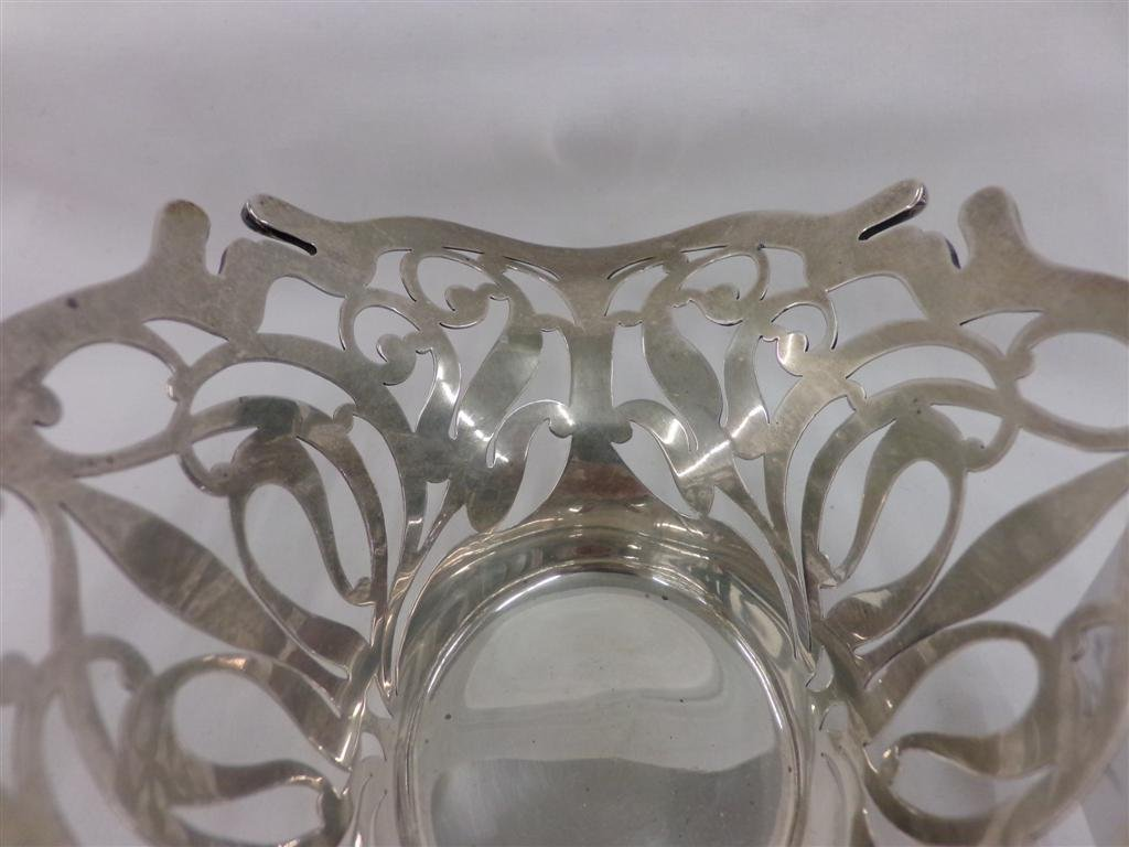 Sterling Silver Pierced Basket; Sold by J.E. Caldwell & - 3