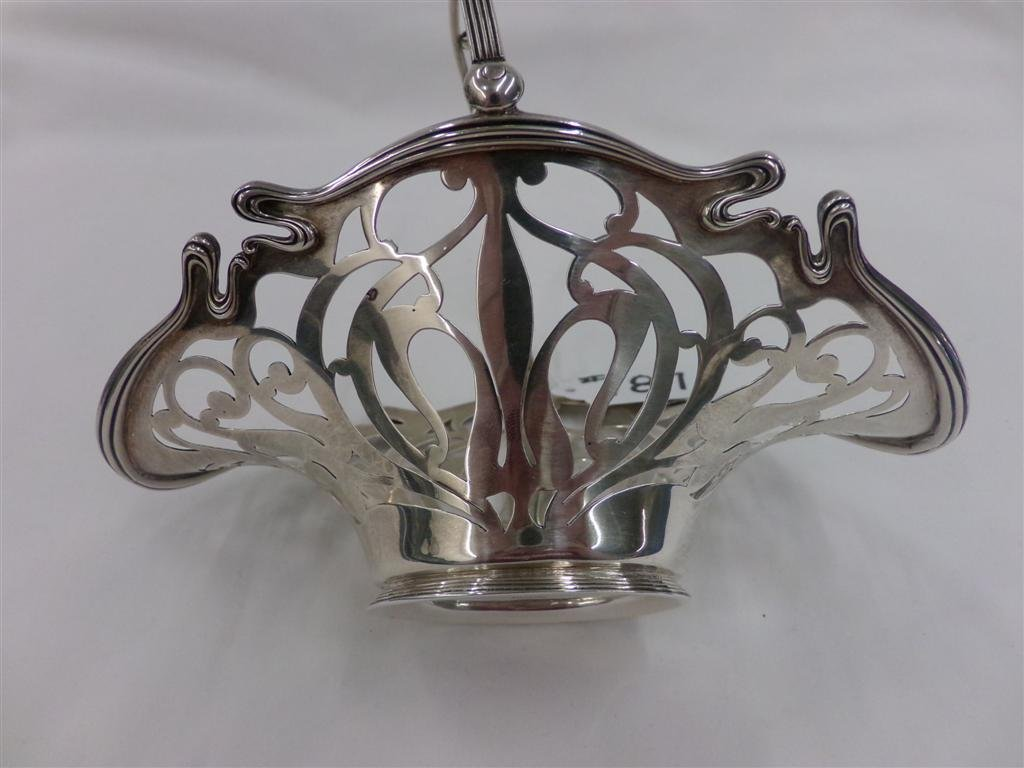Sterling Silver Pierced Basket; Sold by J.E. Caldwell & - 5