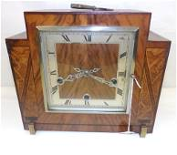 Beautiful Art Deco Mantle Clock with Time, Strike &