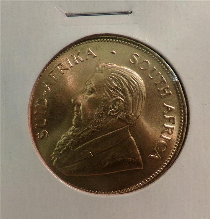 South African 1983 Krugerrand Gold Coin; 1 Oz Pure Gold