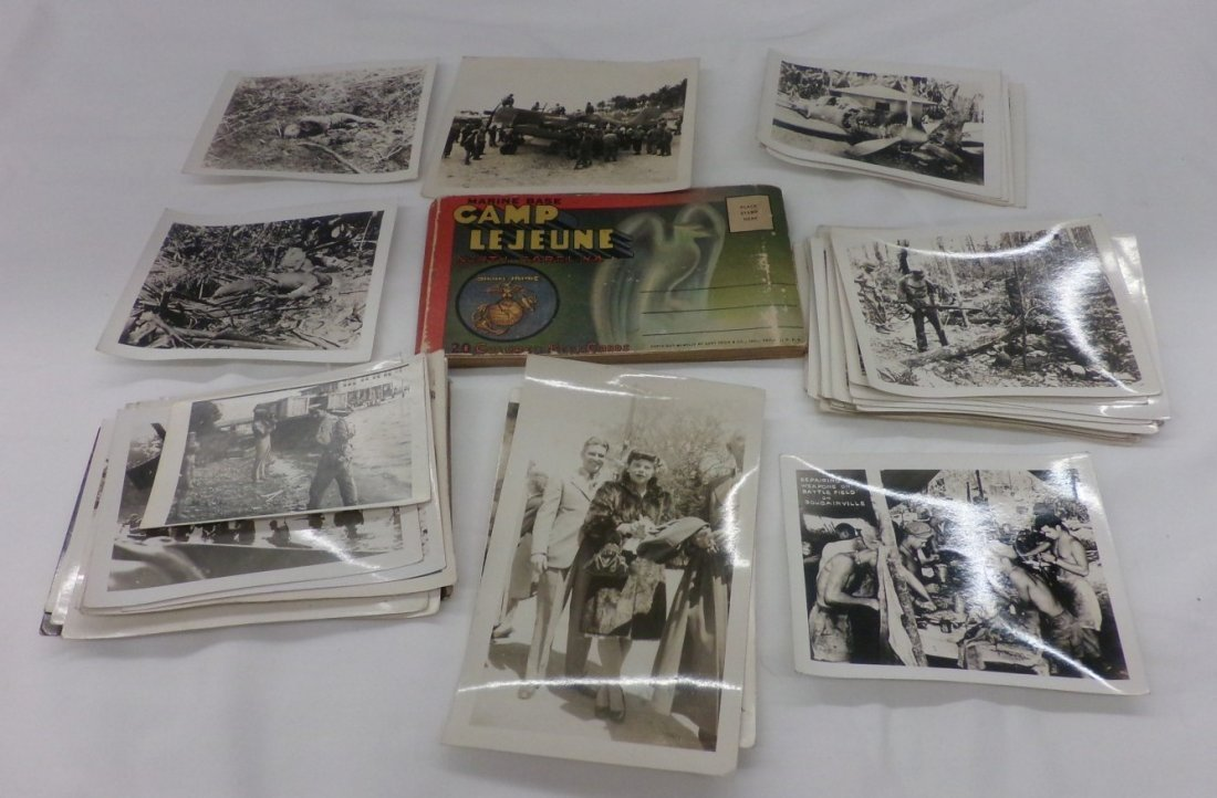 Lot of Military Photographs Circa 1940's and a Post
