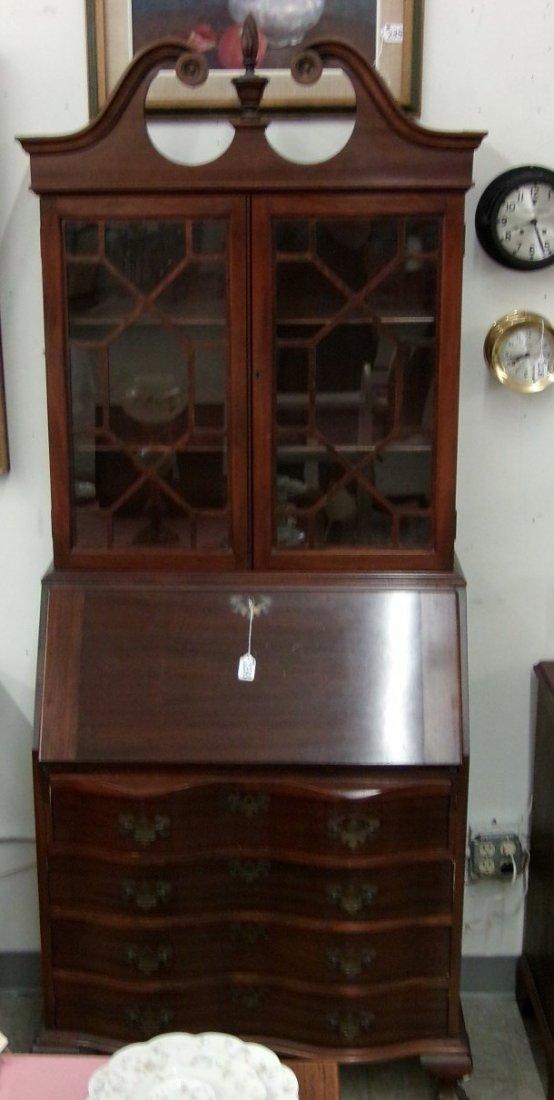 Antique Mahogany Governor Winthrop Bookcase / Secretary - 2